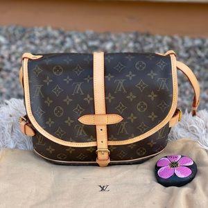 🔥POPULAR🔥Auth Louis Vuitton Saumur 30